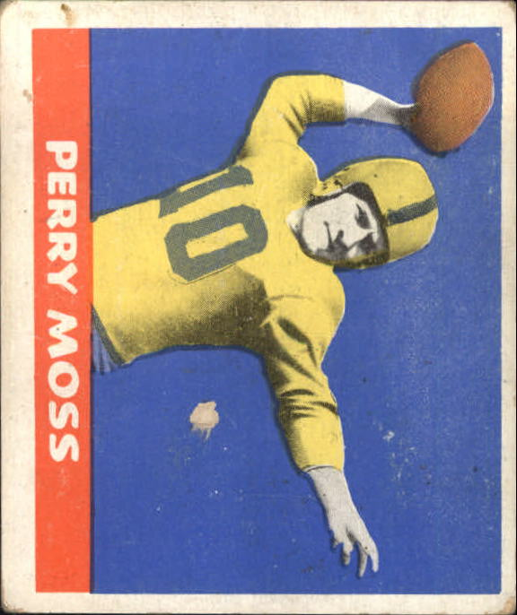 1948 Leaf #10A Perry Moss BFB RC/(Brown football)