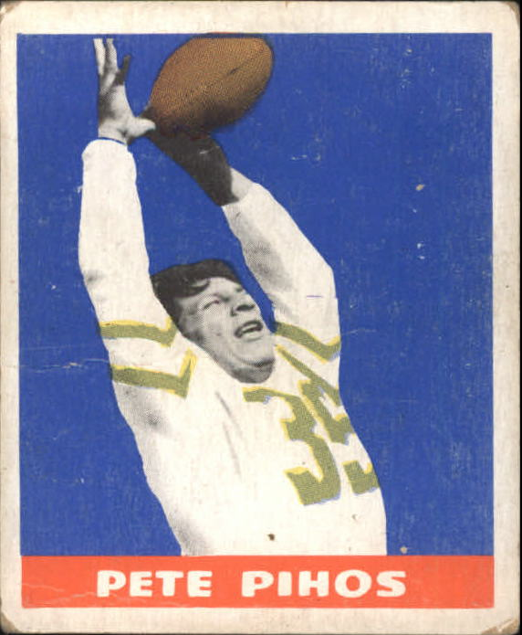 1948 Leaf #16A Pete Pihos YJN RC/(Yellow jersey number)