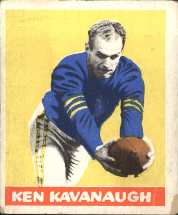 1948 Leaf #23A Ken Kavanaugh YS RC/(Yellow stripes on sleeves)