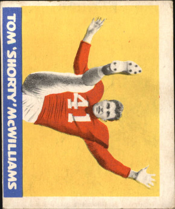 1948 Leaf #31A Tom McWilliams MJ RC/(Maroon jersey)