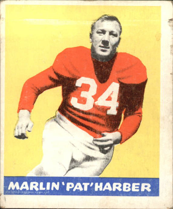 1948 Leaf #33 Pat Harder UER RC/(Misspelled Harber on front)