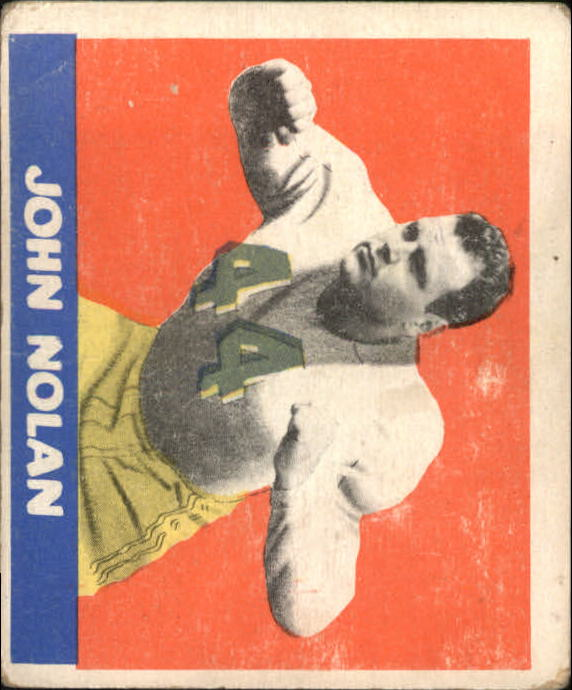 1948 Leaf #40A John Nolan GN RC/(greenish jersey numbers)