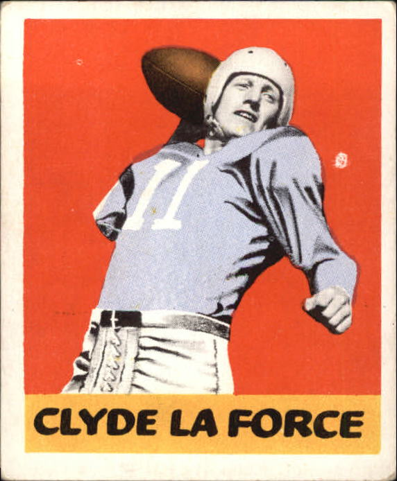 1948 Leaf #68B Clyde LeForce ERR RC/(White Background)/(name misspelled LaForce)