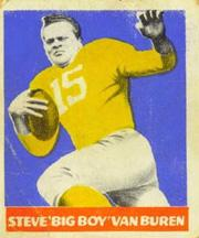 1948 Leaf #22B Steve Van Buren YJ RC/(Yellow jersey, Yellow Sock)