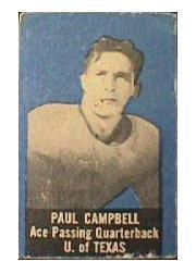 1950 Topps Felt Backs #11 Paul Campbell