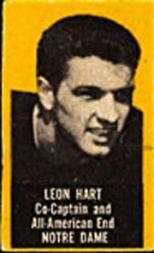 1950 Topps Felt Backs #35B Leon Hart Yel