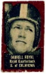 1950 Topps Felt Backs #71A Darrell Royal Brn RC