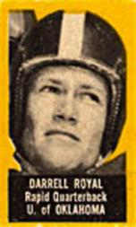 1950 Topps Felt Backs #71B Darrell Royal Yel RC