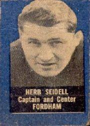 1950 Topps Felt Backs #74 Herb Seidell RC