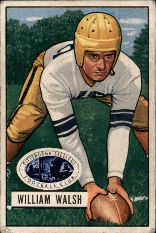 1951 Bowman #23 Bill Walsh C RC