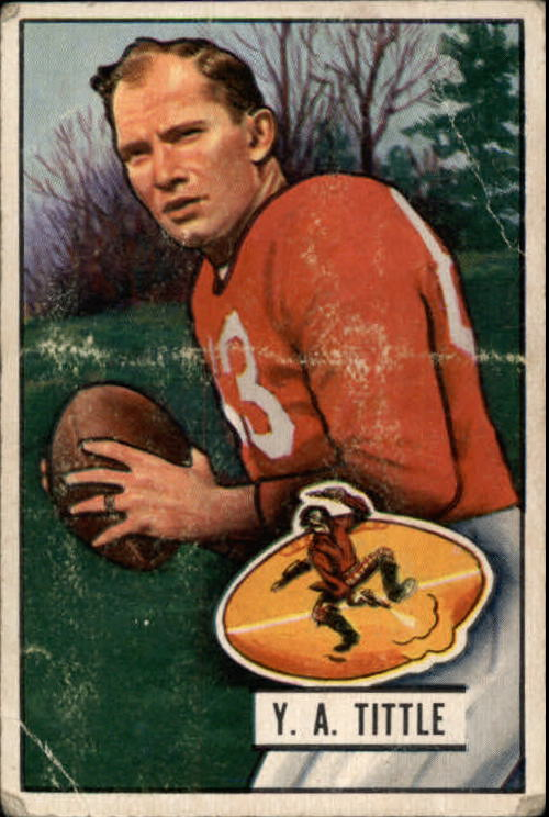 1951 Bowman #32 Y.A.Tittle