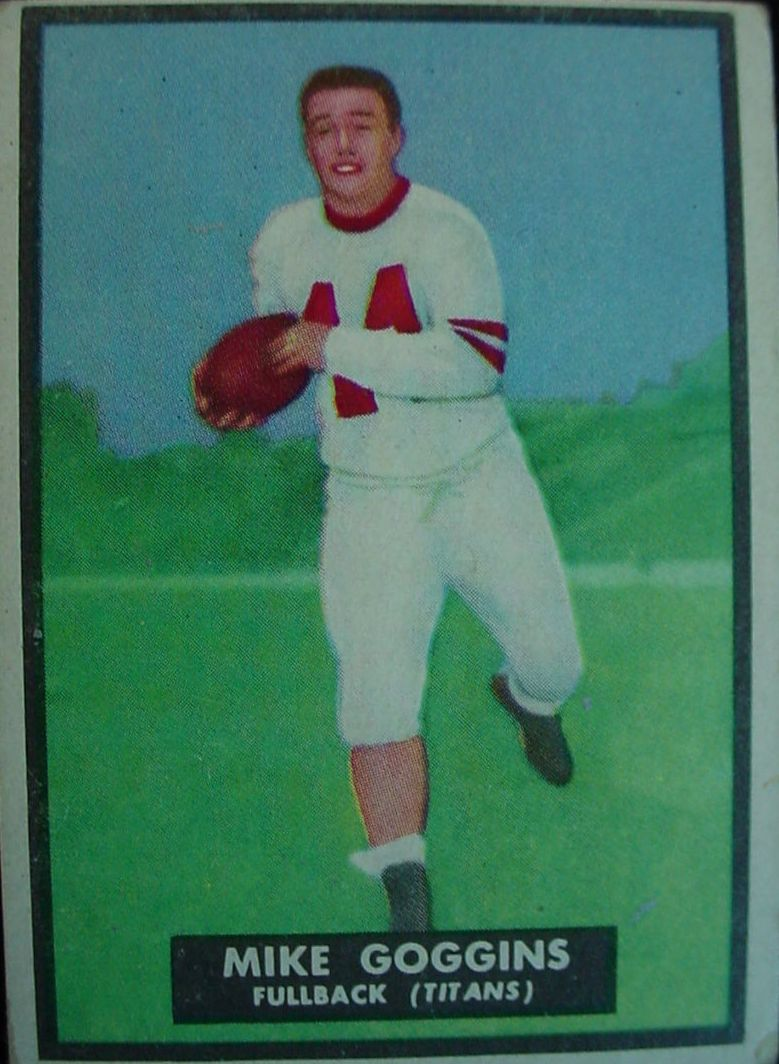 1951 Topps Magic #32 Mike Goggins RC