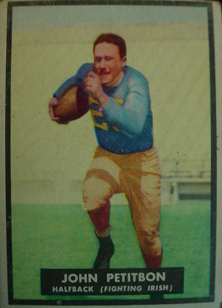 1951 Topps Magic #33 John Petitbon RC