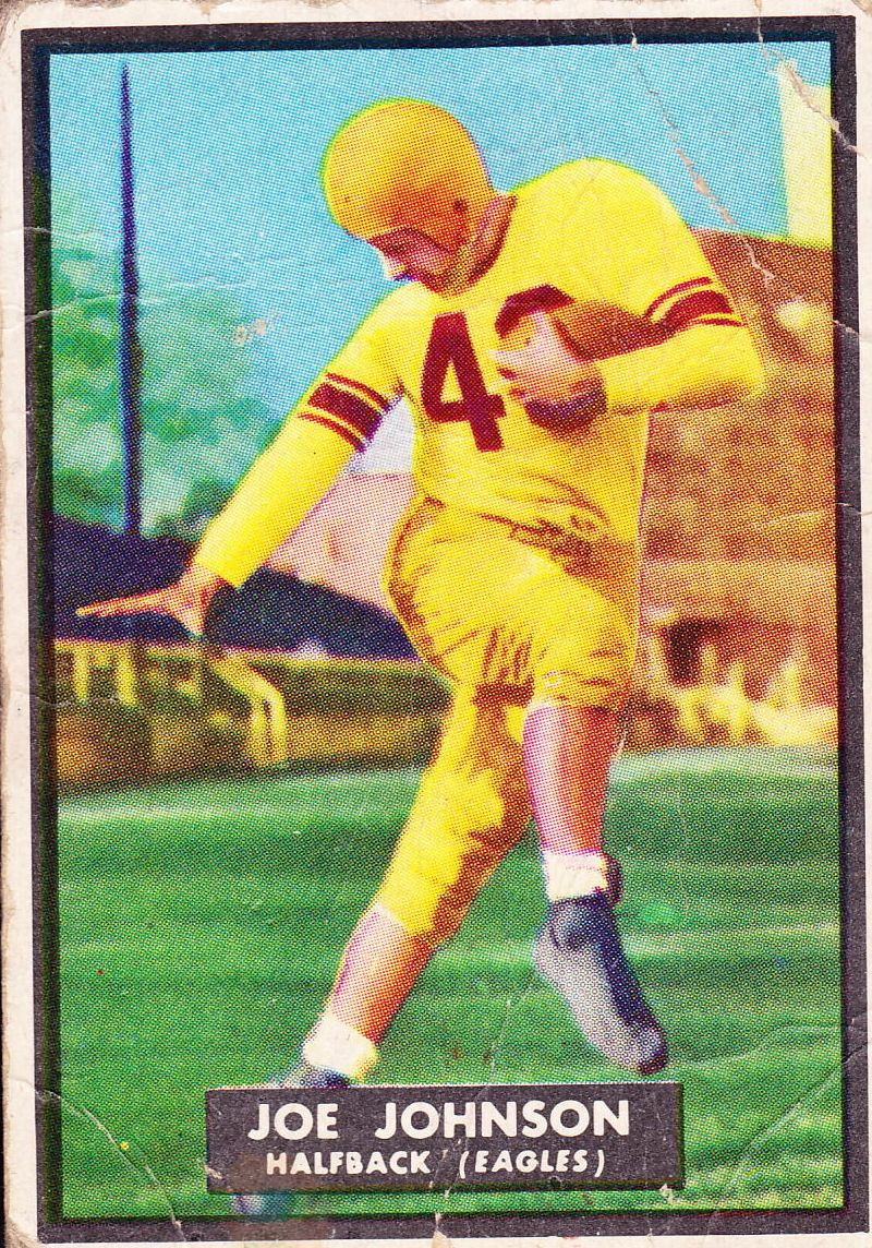1951 Topps Magic #68 Joe Johnson RB RC
