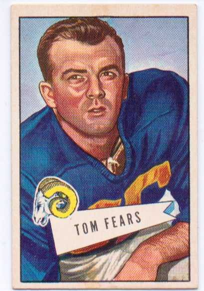 1952 Bowman Large #13 Tom Fears