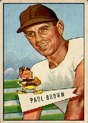 1952 Bowman Large #14 Paul Brown CO RC