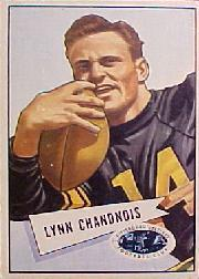 1952 Bowman Large #20 Lynn Chandnois