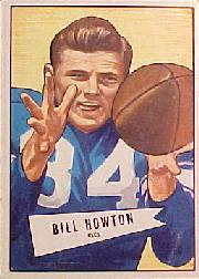 1952 Bowman Large #21 Billy Howton RC