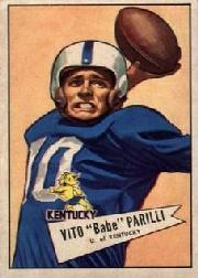 1952 Bowman Large #44 Babe Parilli