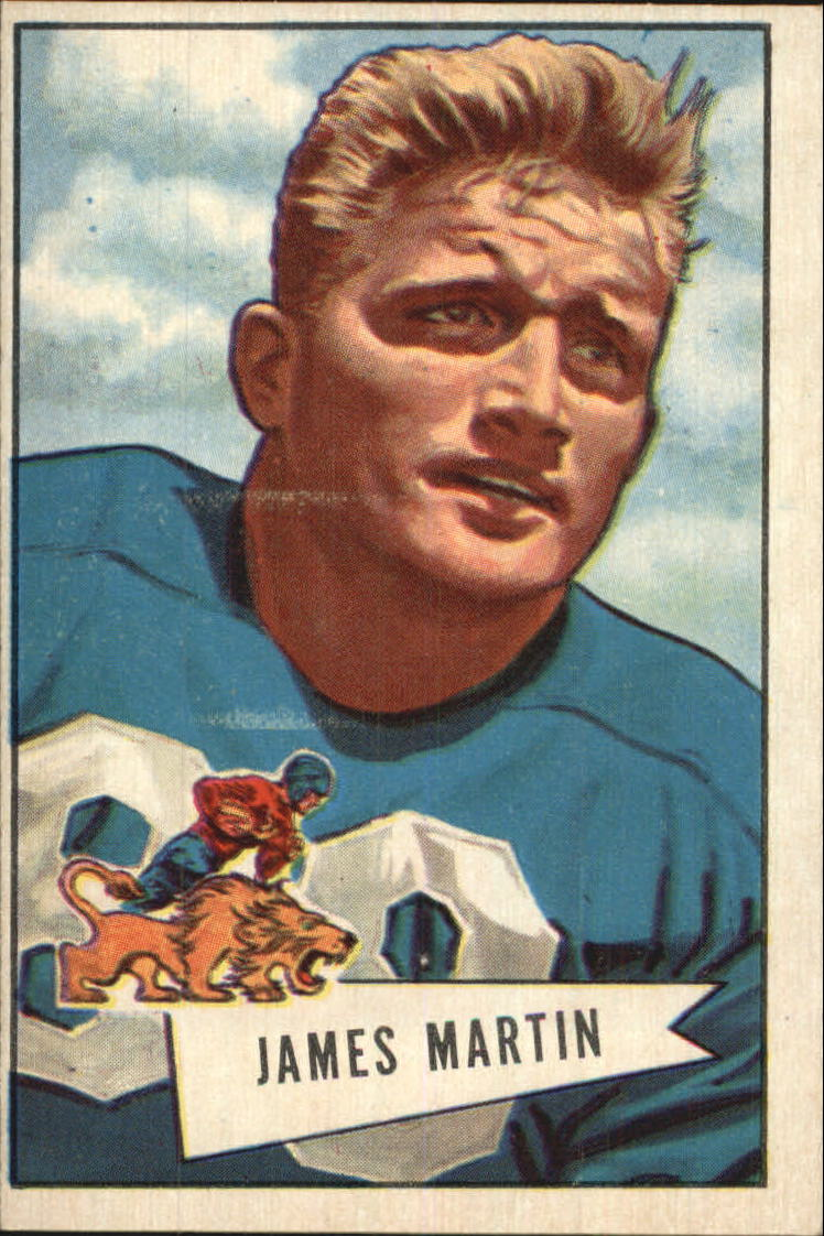 1952 Bowman Large #52 Jim Martin