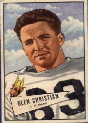 1952 Bowman Large #54 Glen Christian SP RC