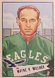 1952 Bowman Large #57 Wayne Millner CO RC
