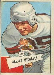 1952 Bowman Large #62 Walt Michaels RC