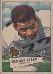 1952 Bowman Large #76 Herman Clark RC