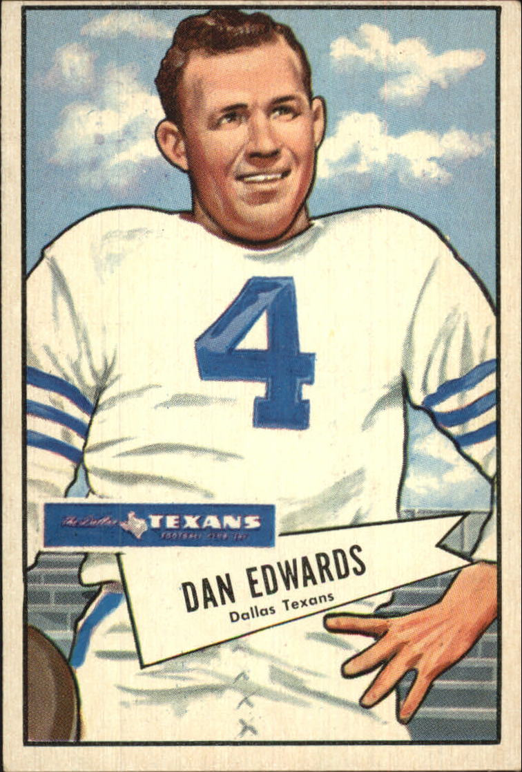 1952 Bowman Large #77 Dan Edwards