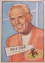 1952 Bowman Large #95 Buck Shaw CO RC