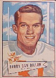 1952 Bowman Large #98 Bobby Dillon RC