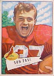 1952 Bowman Large #103 Don Paul DB