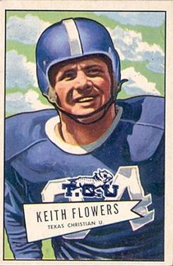 1952 Bowman Large #115 Keith Flowers RC