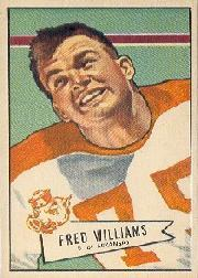 1952 Bowman Large #121 Fred Williams RC