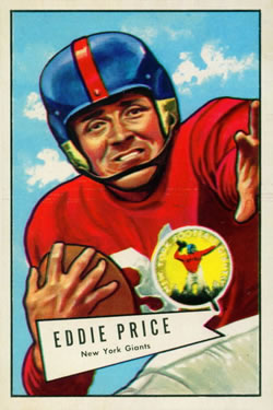 1952 Bowman Large #123 Eddie Price