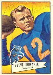 1952 Bowman Large #126 Steve Romanik SP RC
