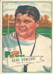 1952 Bowman Large #135 Gene Ronzani CO SP RC