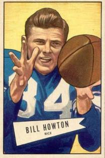 1952 Bowman Small #21 Billy Howton RC