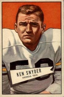 1952 Bowman Small #22 Kenneth Snyder RC