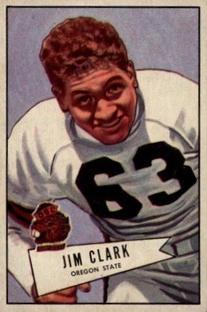 1952 Bowman Small #66 James Clark