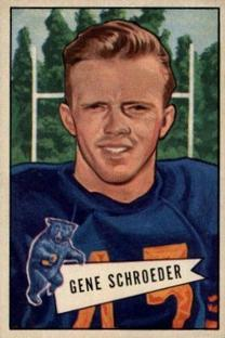 1952 Bowman Small #70 Gene Schroeder RC