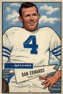 1952 Bowman Small #77 Dan Edwards