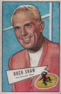 1952 Bowman Small #95 Buck Shaw CO RC