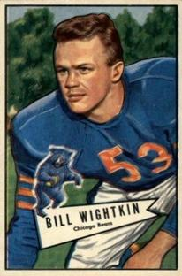 1952 Bowman Small #96 Bill Wightkin