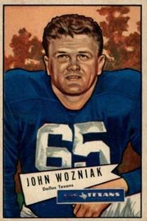 1952 Bowman Small #97 John Wozniak