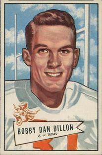 1952 Bowman Small #98 Bobby Dillon RC