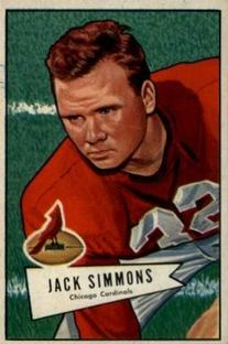 1952 Bowman Small #110 Jack Simmons RC