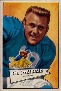 1952 Bowman Small #129 Jack Christiansen RC