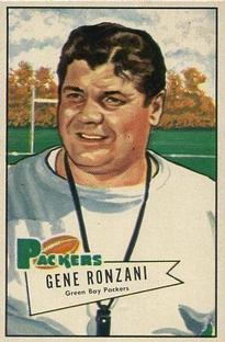 1952 Bowman Small #135 Gene Ronzani CO RC