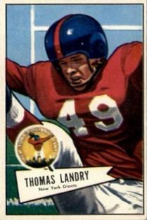 1952 Bowman Small #142 Tom Landry